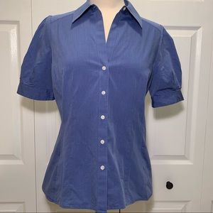 Loft short sleeve v-neck button down